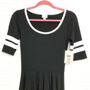 LuLaRoe Dresses - LuLaRoe Nicole Black White Stripe Circle Dress